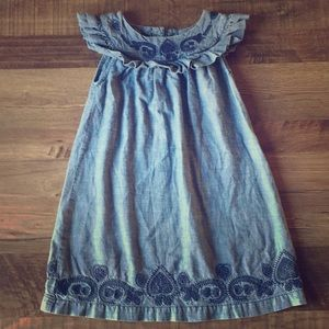 Old Navy Embroidered Denim Dress Size 5T